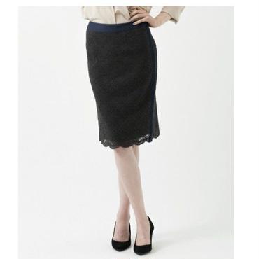 サイドライン配色レースタイトスカート(10123000)
