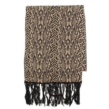 【CHASER】JUNGLE KNIT FRINGE SCARF 55195053