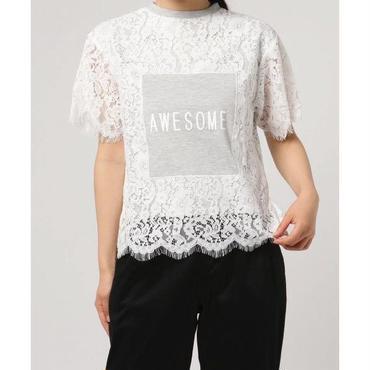 レース×プリントTシャツ 10334044