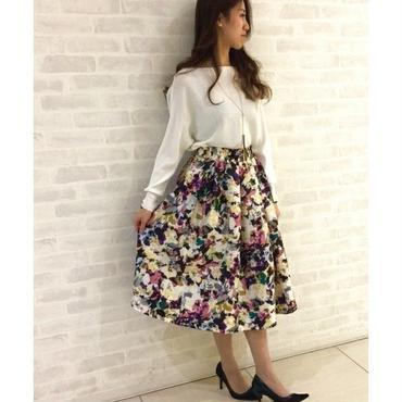 花柄フレアスカート 10324004