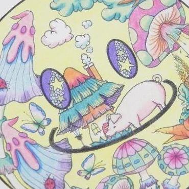 【PoPun.P】ポストカードスマイル黄 48-0112