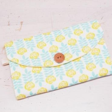 【ああ】カード入れ 黄色の花 P17-1214