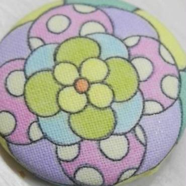 【PoPun.P】くるみボタン 花 S48-237