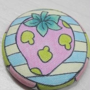 【PoPun.P】くるみボタン いちご S48-233