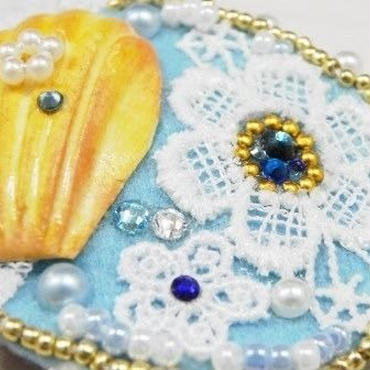 【AuroraDrop】きらりんフェルトパッチン ライトブルー M6-F002