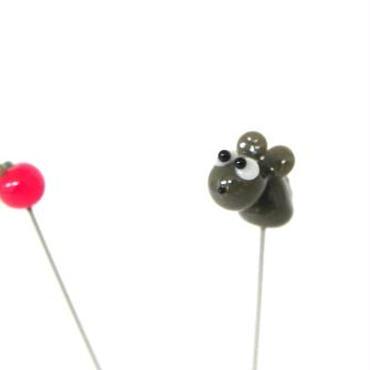 【gemma】まち針2本セット ねずみ&りんご