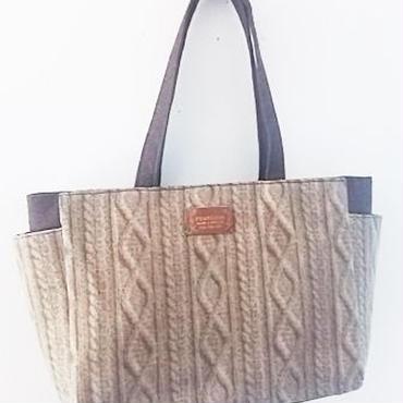 【ああ】ファスナー付Bag ブラウン P17-1164