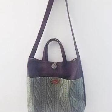 【ああ】ショルダーひも付Bag グリーン P17-1165