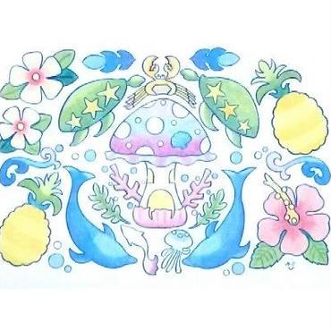 【PoPun.P】ポストカード ハワイアン S48-301