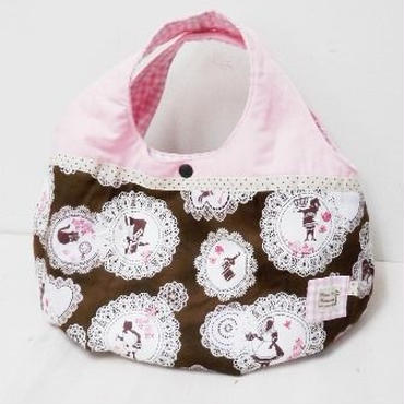 【ああ】丸型bag ピンク×アリス P17-1067