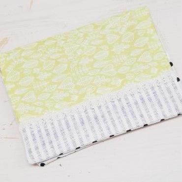 【ああ】ティッシュケース 黄緑の葉っぱ P17-1063