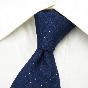 フォーマルにオススメ【GIOVANNI(ライフテースト扱い)】キラキラ感◎織り目の綺麗なブルー系ネクタイ【USED】1221