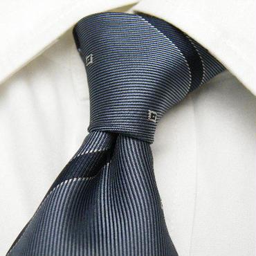シックな大人ネクタイ|Estrais(スズキ扱い)|グレー系ストライプネクタイ|ウォッシャブル加工|USED|0615|日本製