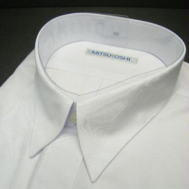 送料200円同梱OK【新品/半袖】三越(ユニチカ製造)フロント2ポケット 半袖ホワイト(白)Yシャツ【首回り43cm/B形】|ワイシャツ|ワークシャツ