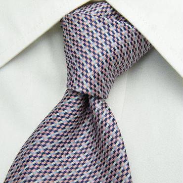 丸洗いOK【マルタカ】ウォッシャブル ピンク系総柄ネクタイ【USED】1121