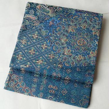 【ふくろ帯】おしどりや華文 紺碧のふくろ帯