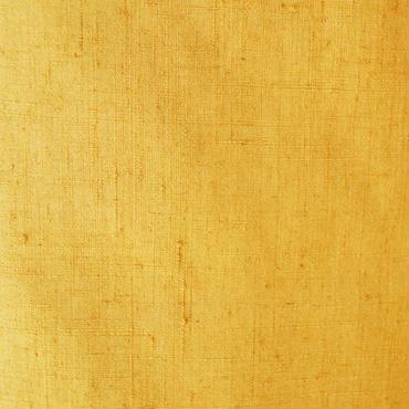【袷】支子(クチナシ)色の無地紬・落款入り