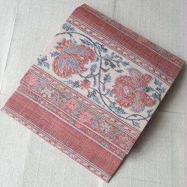 【なごや帯】紬地更紗柄の織りなごや帯