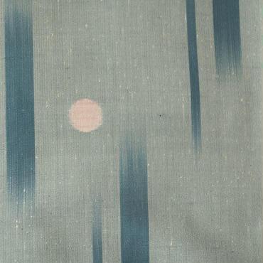 【単羽織】藍鼠色地に飛び縞と水玉文様