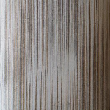 【単衣】アースカラーのランダム縞単衣紬