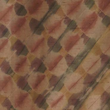 【袷・アウトレット】 アーモンドピンクブラウン 絞り染め紬