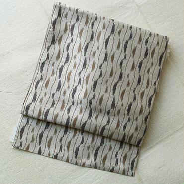 【なごや帯】幾何学なよろけ縞単なごや帯