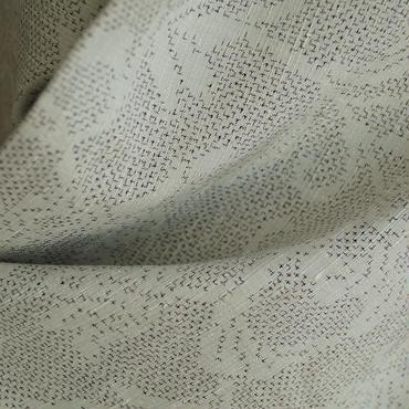 【単羽織】水浅葱色の半唐草文絣模様羽織