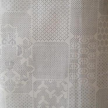 【袷】織り柄並びの白大島
