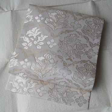 【なごや帯】白地花文なごや帯