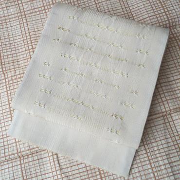 【ふくろ帯】ひなや製 白色に金銀糸使い洒落ふくろ帯