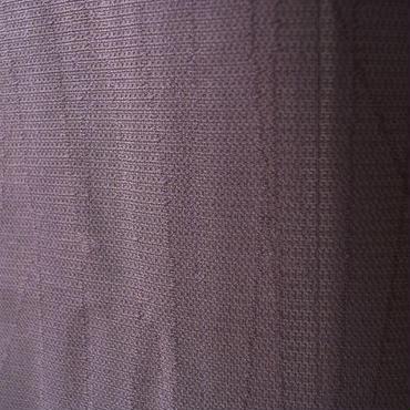 【紗 コート】似せ紫色よろけ縞地紋のコート