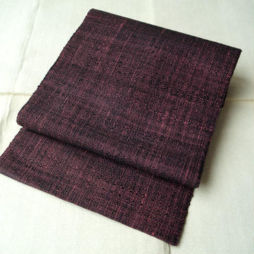 【なごや帯】紫×黒 八寸 かがり