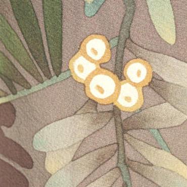 【単衣】小豆色濃淡 枇杷文 附下訪問着