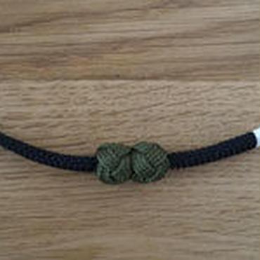 【羽織紐】マグネット式羽織紐 黒/海松色