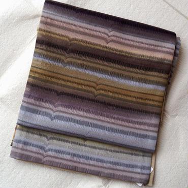 【ふくろ帯】カラフル横縞暈し洒落袋帯