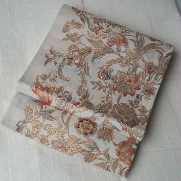 【ふくろ帯】金唐革織ロココ花鳥文の袋帯