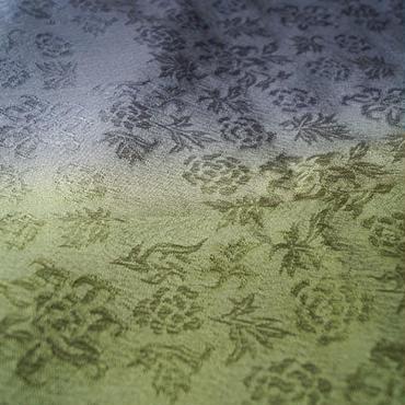 【ショール】二色暈し更紗地紋のショール