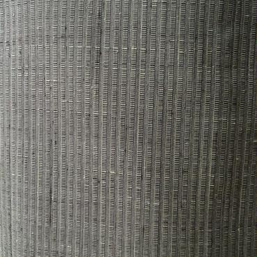 【袷】灰緑系 微塵縞の結城紬