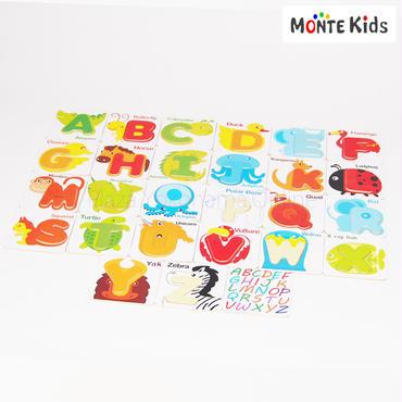 【MONTE Kids】MK-018   動物アルファベットパズル