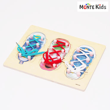 【MONTE Kids】MK-010  靴ひも結びパズル付き  ≪OUTLET≫