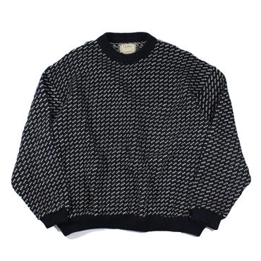 (XXL) 1980s L.L.Bean birds eye knit