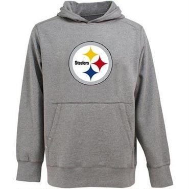 Antigua Pittsburgh Steelers Hoodie-Gray