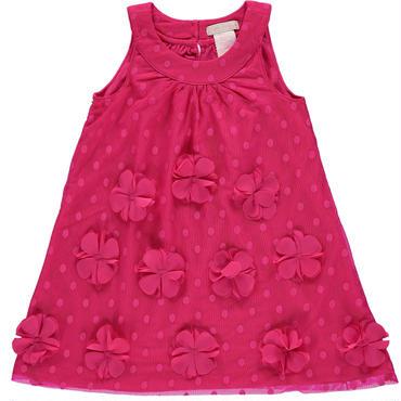 フラワー ピンクAラインドレス 92cm,104cm