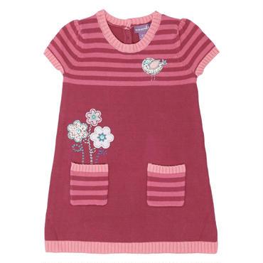 ピンク ニット ジャンパー ドレス  92cm