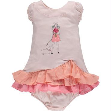 ベビーラッフルピンクドレス 80cm