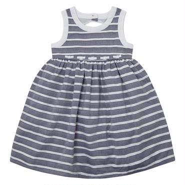 グレー&ホワイト ストライプ ドレス 110cm