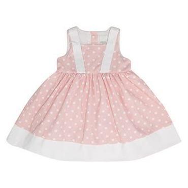ピンク ドットコーデュロイ ドレス 92cm