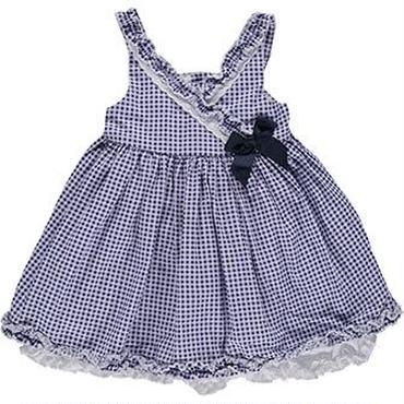 ブルーギンガムチェック ドレス 86cm