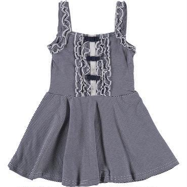 ネイビー&ホワイト ストライプ ドレス 110cm