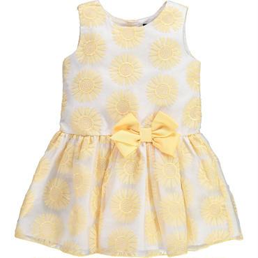 イエロー フラワー ドレス 104cm